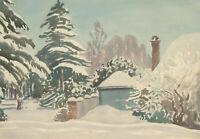 Harold Louis Latham (1888-1971) - 20th Century Watercolour, Snowfall Amberley