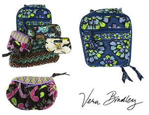 Vera Bradley 5 Pc LOT Lunch bag wallet Cosmetic case Coin Purse