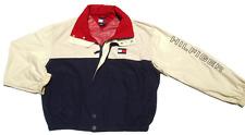 Vtg 90's Tommy Hilfiger Windbreaker Hooded Jacket Embroidred Logo on Arm
