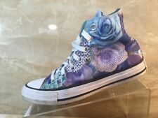 Converse All Stars Rose Floral Canvas High Tops Casual Shoes Womens Size 6