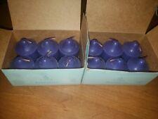 PartyLite Set of 12 Round Votive Candles V0671 Grape Raisin Purple