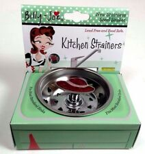 Kitchen Sink Strainer by Billy Joe Retro Stainless Steel  Red Hat Society B3