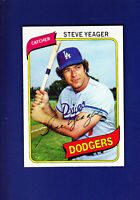 Steve Yeager 1980 TOPPS Baseball #726 (NM+) Los Angeles Dodgers