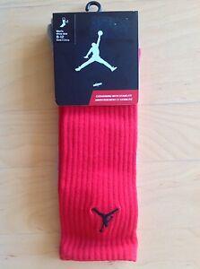 🏀 NEW NWT Air Jordan Jumpman 23 Red Socks Nike Large 8 - 12 ( 42 - 46 Europe )
