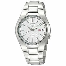 *BRAND NEW* Seiko Men's Silver Stainless Steel case White Dial Watch SNK601