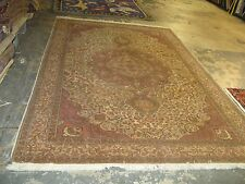 Semi- Antique Turkish Sivas Oushak Rug Hand Knotted Wool 6'-2 x 9'-6