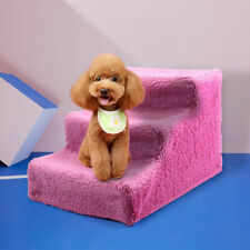 Pink Indoor Puppy Dog Steps Pet Stairs Ramp Portable Animal Cat Ladder wi/Cover