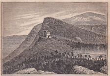 original c1841 wood engraving, John W. Barber: Catskill Mountain House, Hudson R