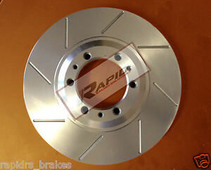 SLOTTED DISC BRAKE ROTORS TO SUIT TOYOTA CAMRY AURION WITH BRAKE PADS FRONT