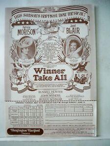 WINNER TAKE ALL Herald PATRICIA MORISON / JANET BLAIR World Premiere FLOP 1976