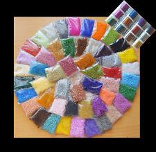 Perlen * Glasperlen * ROCAILLES SET * 700g f. Perlentiere * 50 Farben + 3x Draht