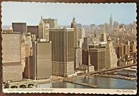 Vintage 1972 Staten Island Ferry & Lower Manhattan New York Postcard