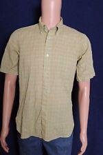 VTG 60s Arrow Cum Laude King Cotton button collar button front SS casual shirt S