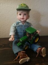 The Danbury Mint Johnny The John Deere Construction Doll Porcelain Tractor