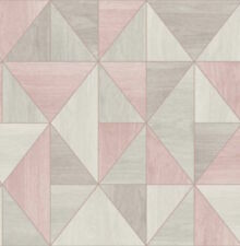 Fine Decor Apex Wood Grain Geo Rose Gold Wallpaper - FD42224