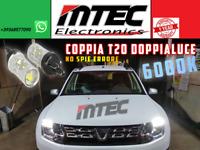 COPPIA LAMPADE DIURNE T20 // LED CAN BUS DACIA DUSTER AUDI A1 W21W MOD PHILIPS