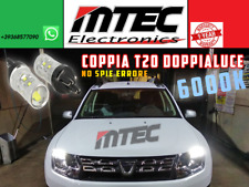 COPPIA LAMPADE DIURNE T20 // LED CAN BUS DACIA DUSTER AUDI A1 W21W MOD PHILIPS