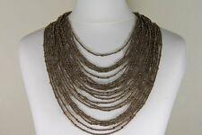 Necklace Gorgeous Multi-strand Cleopatra Drape Bronzite Beads Costume Jewellery