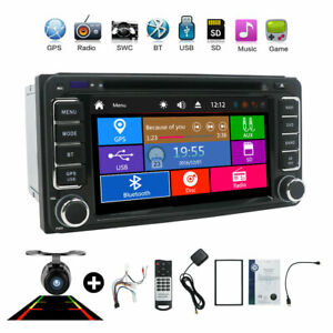 2 Din Car Stereo GPS Navi Head unit For Toyota Universal DVD Camera Map FM-AM BT