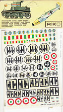 RIKO 24 Italy - National Insigna and Victories Gained Decals New Old Stock