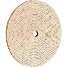 "Laminated Hard Sisal Buffing Wheel 8"" x 1/2"" Wide x 5/8"" Hole Off-White New"
