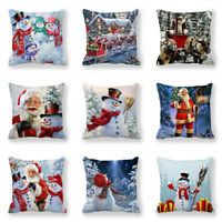Cushion Pillow Hot Christmas Covers Sell 3D Sofa Snowman Case Cover Decorative