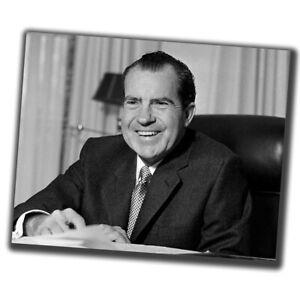 Richard Nixon Celebrities Vintage Retro Photo Glossy Big Size 8X10in W076
