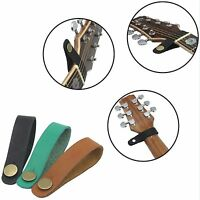 3 Color/set PU Leather Strap Hook for Acoustic Electric Guitar Headstock Tie