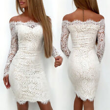 Sexy Women's Summer Casual Party Evening Cocktail Lace Short Mini Dress Bodycon