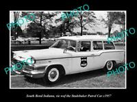 OLD 8x6 HISTORIC PHOTO OF SOUTH BEND INDIANA THE STUDEBAKER POLICE CAR c1957