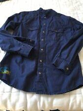 Chemise enfant couleur bleu marine tres fonce 100% coton DPAM en parfait etat
