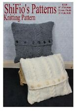 KNITTING PATTERN for CHUNKY & ARAN CUSHION COVERS # 268 NOT CLOTHES