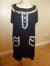 love moschino black sequin multicolour silk dress size 4/12/48