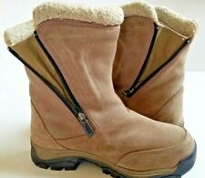 Sorel Womens Snow Boots Size 8 Waterfall Thinsulate Side Zip Tan Winter Warm