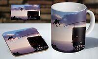 Danny Way Skate Legend Tea / Coffee Mug Coaster Gift Set