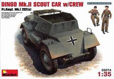 Mini Art 1/35 German Dingo MK II Scout Car W/ Crew Model Kit 35074