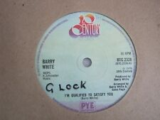 "Vinyl Record 7"" Single BARRY WHITE I'M QUALIFIED TO SATISFY YOU (Q)"
