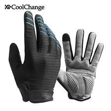CoolChange Cycling Gloves Full Finger Sport Shockproof MTB Bike Touch Screen Glo