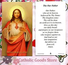 Sacred Heart of Jesus - The Our Father or Lord's Prayer  - Paperstock Holy Card