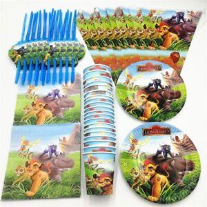 81Pcs Lion King Theme Party Supplies Birthday Disposable Tableware Set Kids