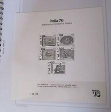 ITALIA REPUBBLICA  FOGLIETTO 1976  ESPOSIZIONE MONDIALE DI FILATELIA  ANNULLATO