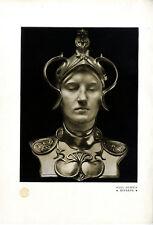 Paul Dubois Französischer Bildhauer Minerva Bronze- Motiv Kunstdruck v.1907