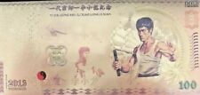 Gold-plated banknote Bruce Lee