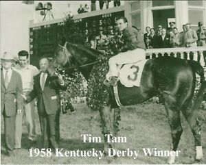 "1958 - TIM TAM in the Kentucky Derby Winners Circle - 10"" x 8"""
