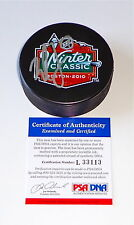 MILAN LUCIC BOSTON BRUINS SIGNED 2010 WINTER CLASSIC PUCK PSA COA L33113