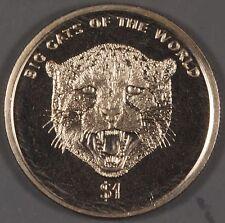 "Sierra Leone 2001 ""Big Cats of the World Cheetah"" $1 Coin"