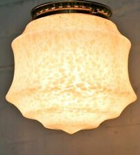 Ceiling Light An Art Deco 1930s Flush Fit Pink Dome Light Mottled Glass Antique