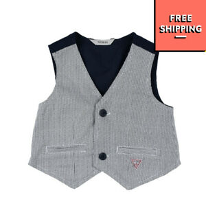 GUESS Waistcoat Size 12M Fully Lined Patterned
