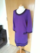 Ladies BODEN Dress Size 12 Purple Shift Smart Casual Day Party