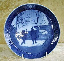 "Royal COPENHAGEN-Christmas Plate 1987 ""winterbirds"""